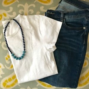 J. Crew White Studio Tee- NEW